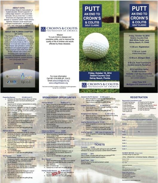 CCFA golf tourny